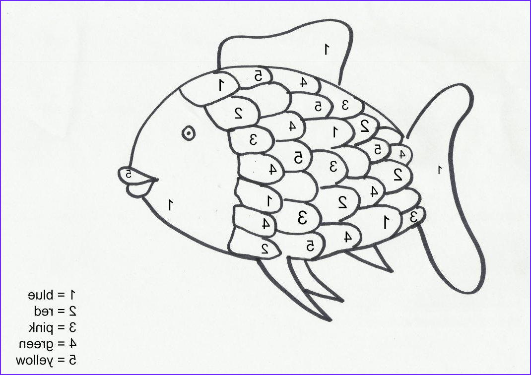 Fish Coloring Pages Pdf Inspirational Images Rainbow Fish Color by Number Coloring Home
