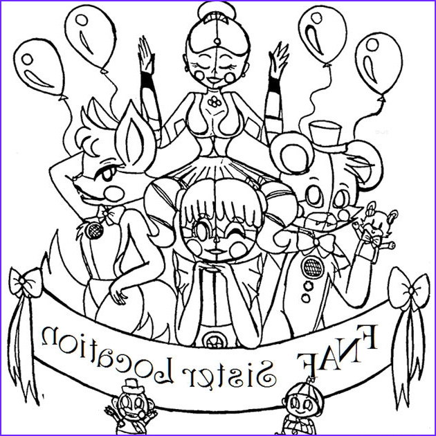 five nights at freddy039s sister location coloring pages