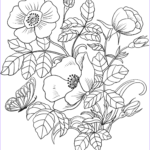 Flower Coloring Best Of Stock Spring Flowers Coloring Page