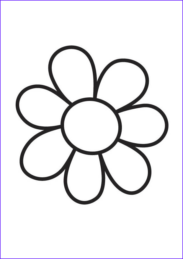 big flower coloring pages