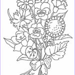 Flower Coloring Book Pages Awesome Photos Bouquet Flowers Coloring Pages For Childrens Printable