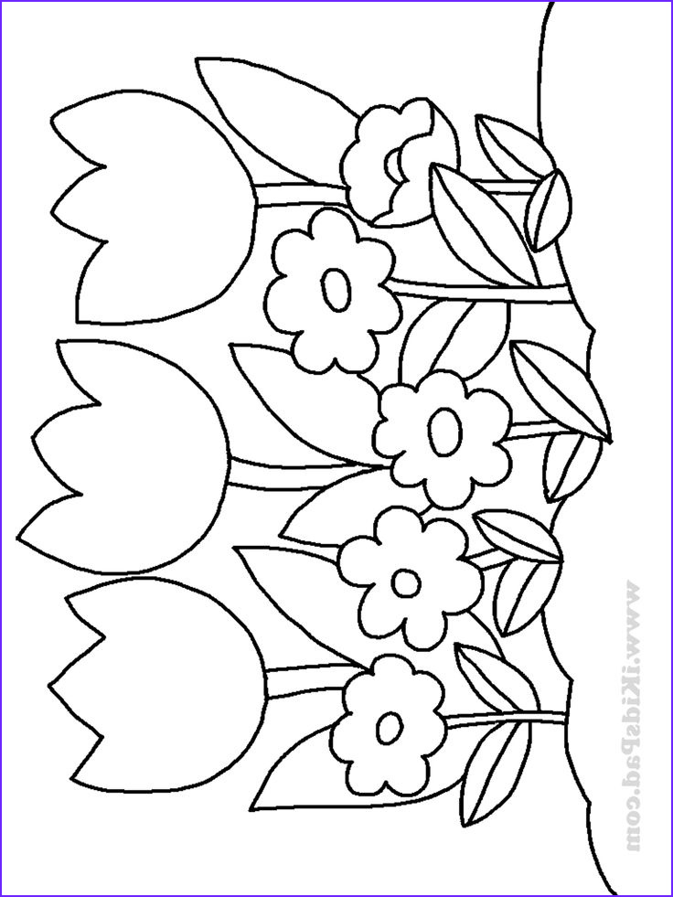 Flower Coloring Book Pages Inspirational Photos Row Of Tulip Flowers Coloring Pages for Kids
