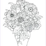 Flower Coloring Book Pages New Stock Bouquet Flowers Coloring Pages For Childrens Printable