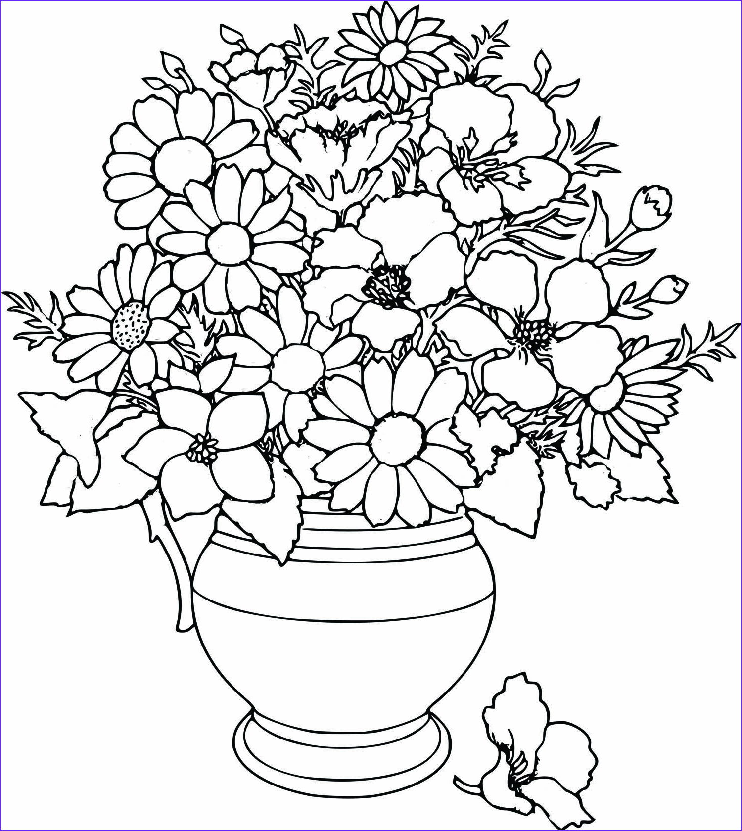 Flower Coloring Pages Awesome Photos Free Beautifull Flower Coloring Pages