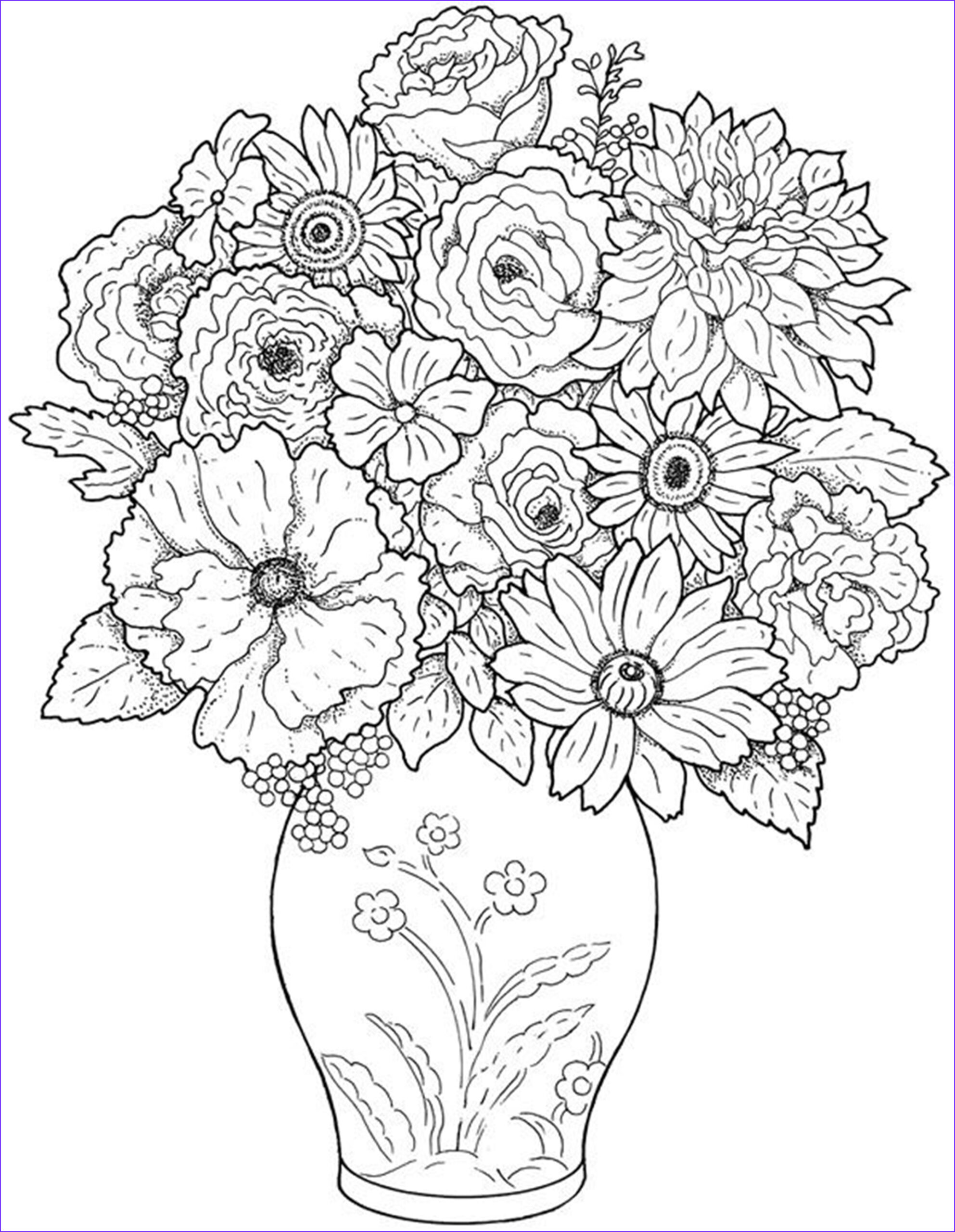 Flower Coloring Pages for Adults Awesome Stock Free Printable Flower Coloring Pages for Kids Best