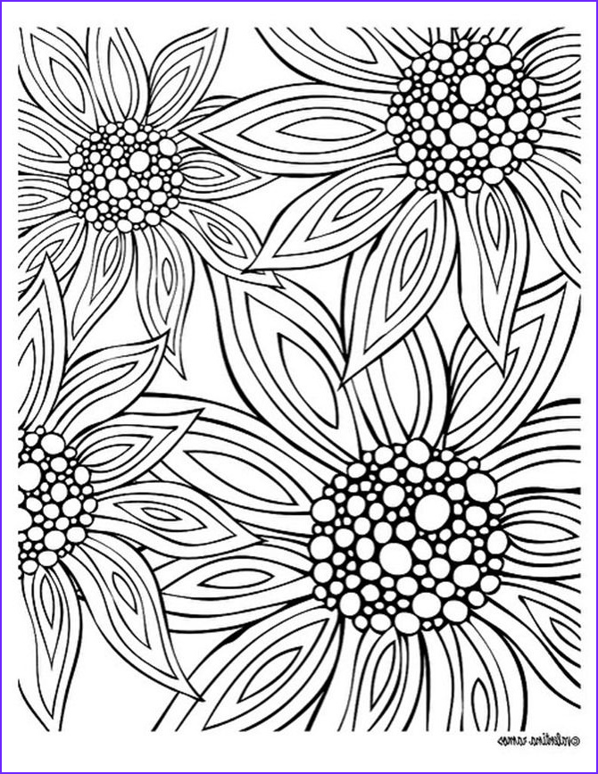 Flower Coloring Pages for Adults Beautiful Gallery Free Printable Coloring Pages for Summer Flowers