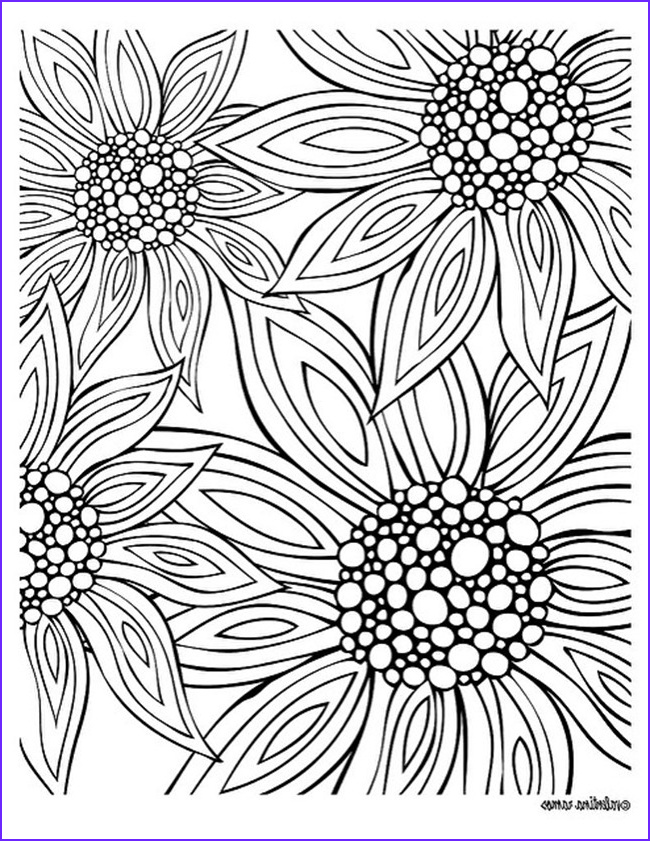 Flower Coloring Pages for Adults Unique Photos 12 Free Printable Adult Coloring Pages for Summer