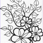Flower Coloring Pages Inspirational Collection Flower Coloring Pages Coloringsuite