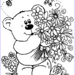 Flower Coloring Pages Unique Collection Bouquet Flowers Coloring Pages For Childrens Printable