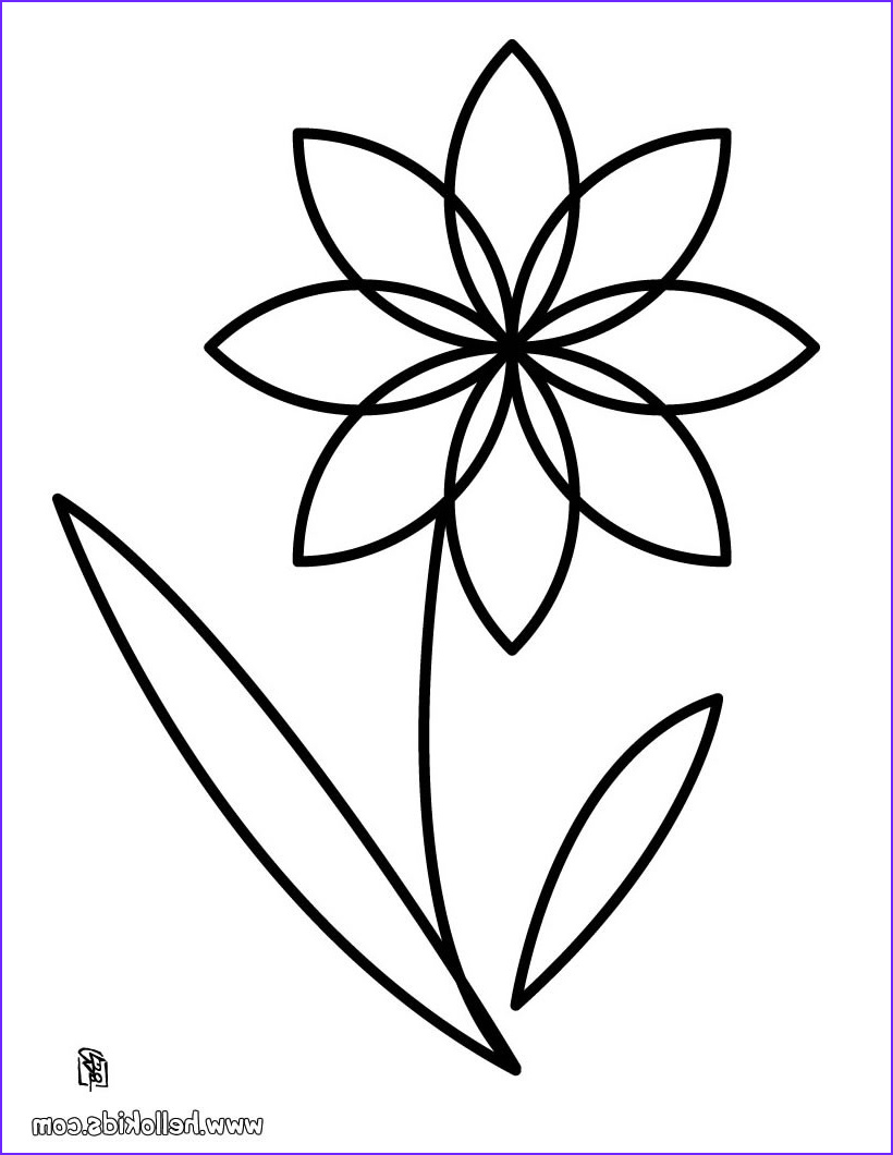 Flower Coloring Pages Unique Collection Flower Coloring Pages Hellokids