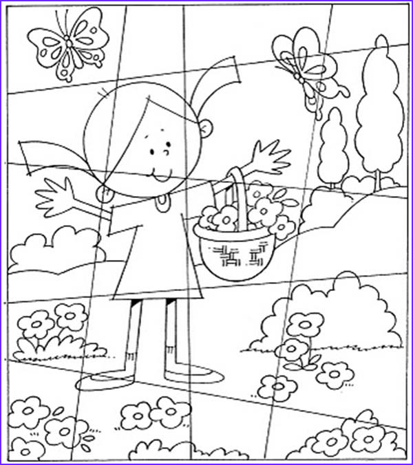 Flower Garden Coloring Pages Best Of Photography Little Girl In the Flower Garden Puzzles Coloring Page