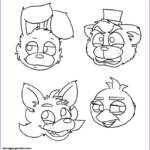Fnaf Coloring Book Luxury Collection Print Five Nights At Freddys Fnaf Bonnie Foxy Mangle