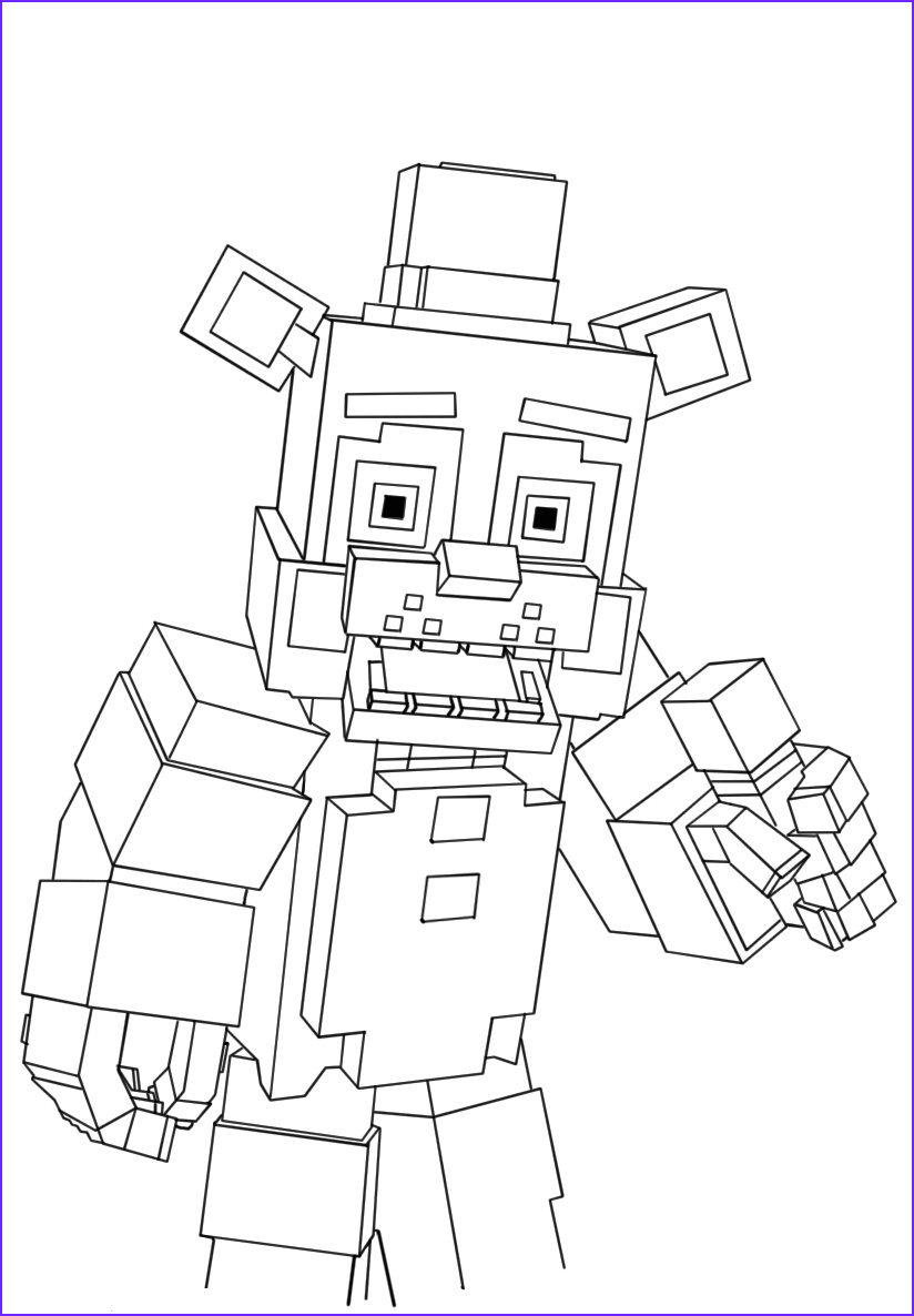 five nights at freddys coloring pages