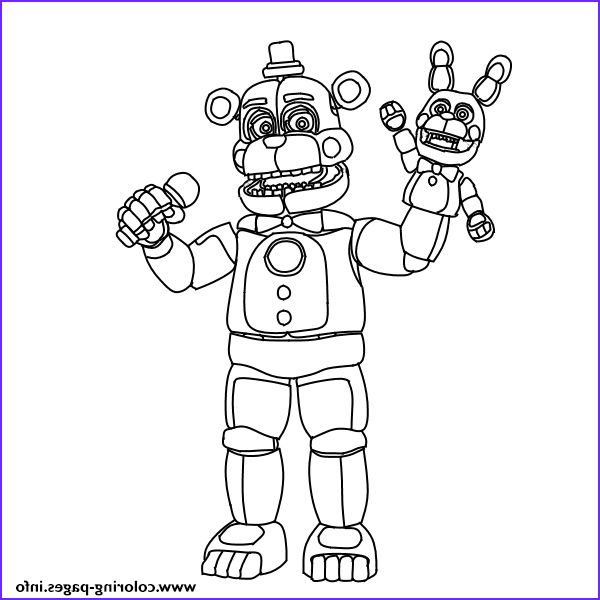fnaf freddy funtime printable coloring pages book