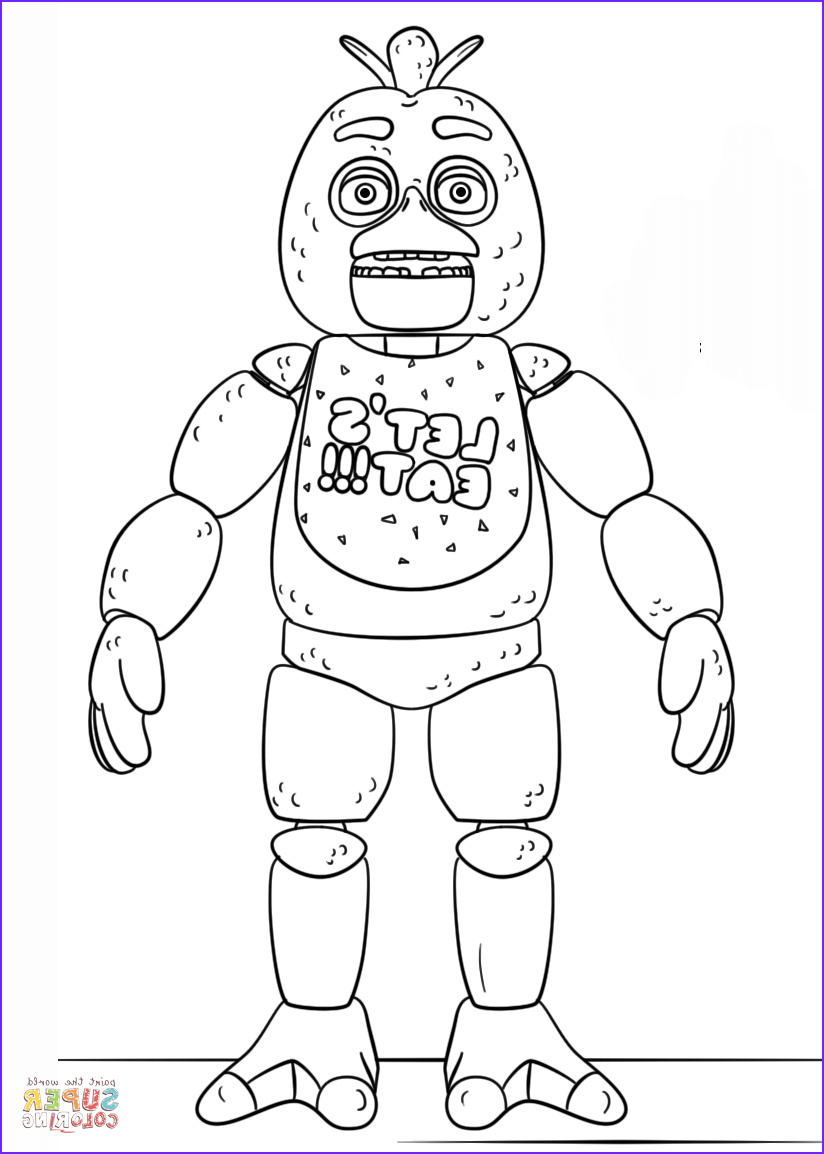 Fnaf Printable Coloring Pages Beautiful Image Fnaf toy Chica Coloring Page