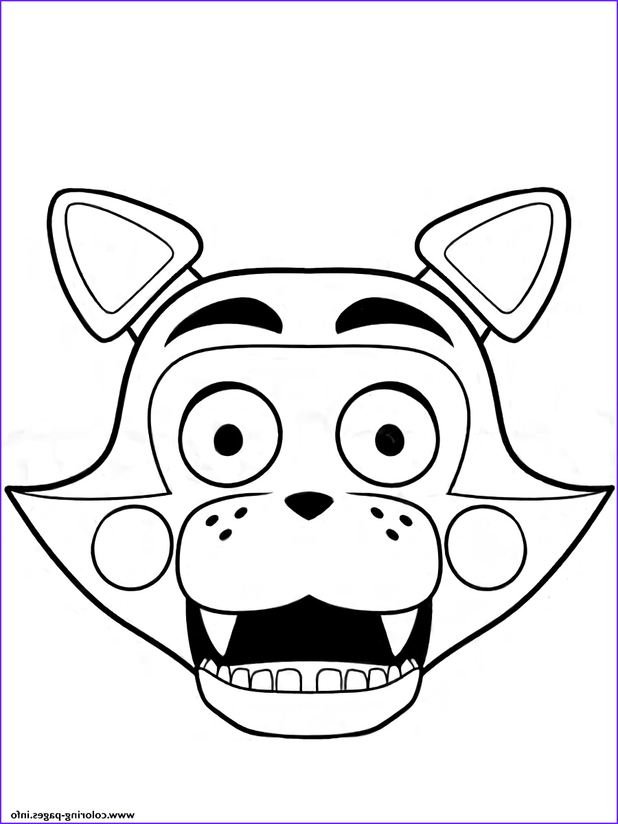 Fnaf Printable Coloring Pages Beautiful Photos Print Fnaf Freddy Five Nights at Freddys Foxy Coloring