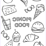 Food Coloring Book Beautiful Images Picnic Food Coloring Page