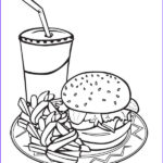 Food Coloring Book Best Of Images Printable Junk Food Burger And Drink Coloring Page For