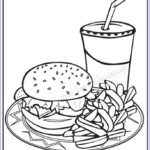 Food Coloring Book New Photography Fast Food Drawing At Getdrawings