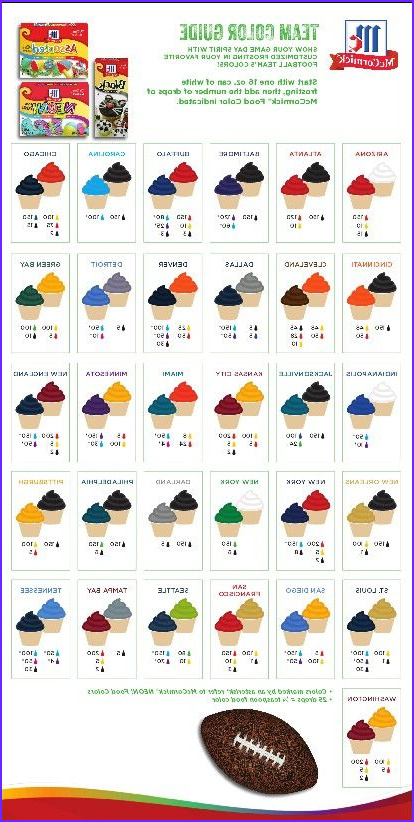 Food Coloring Colors Elegant Photos Icing Colors for Every Nfl Team