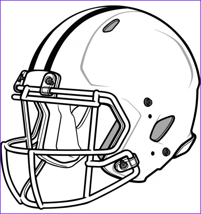 Football Helmets Coloring Pages Unique Collection Football Helmet Pencil Drawing