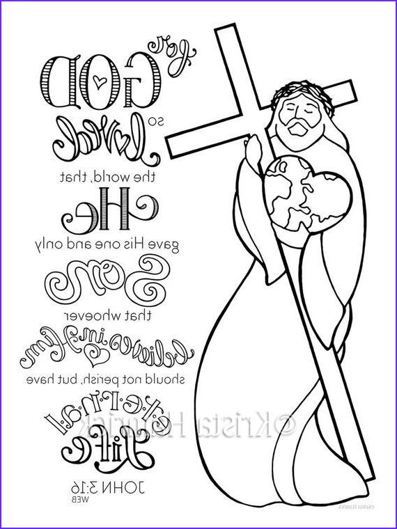For God so Loved the World Coloring Page Elegant Gallery God so Loved the World Coloring Page 8 5x11 Bible