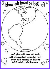For God so Loved the World Coloring Page New Photos Fun Learning Printables for Kids
