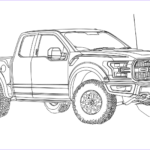 Ford Truck Coloring Pages Luxury Photos 2017 ford F 150 Raptor Coloring Page