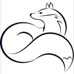 Fox Coloring Sheet Best Of Photos Curled Fox Coloring Page