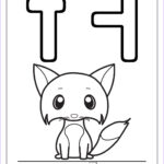 Fox Coloring Sheet Cool Photography Printable Alphabet Coloring Pages Letters A J