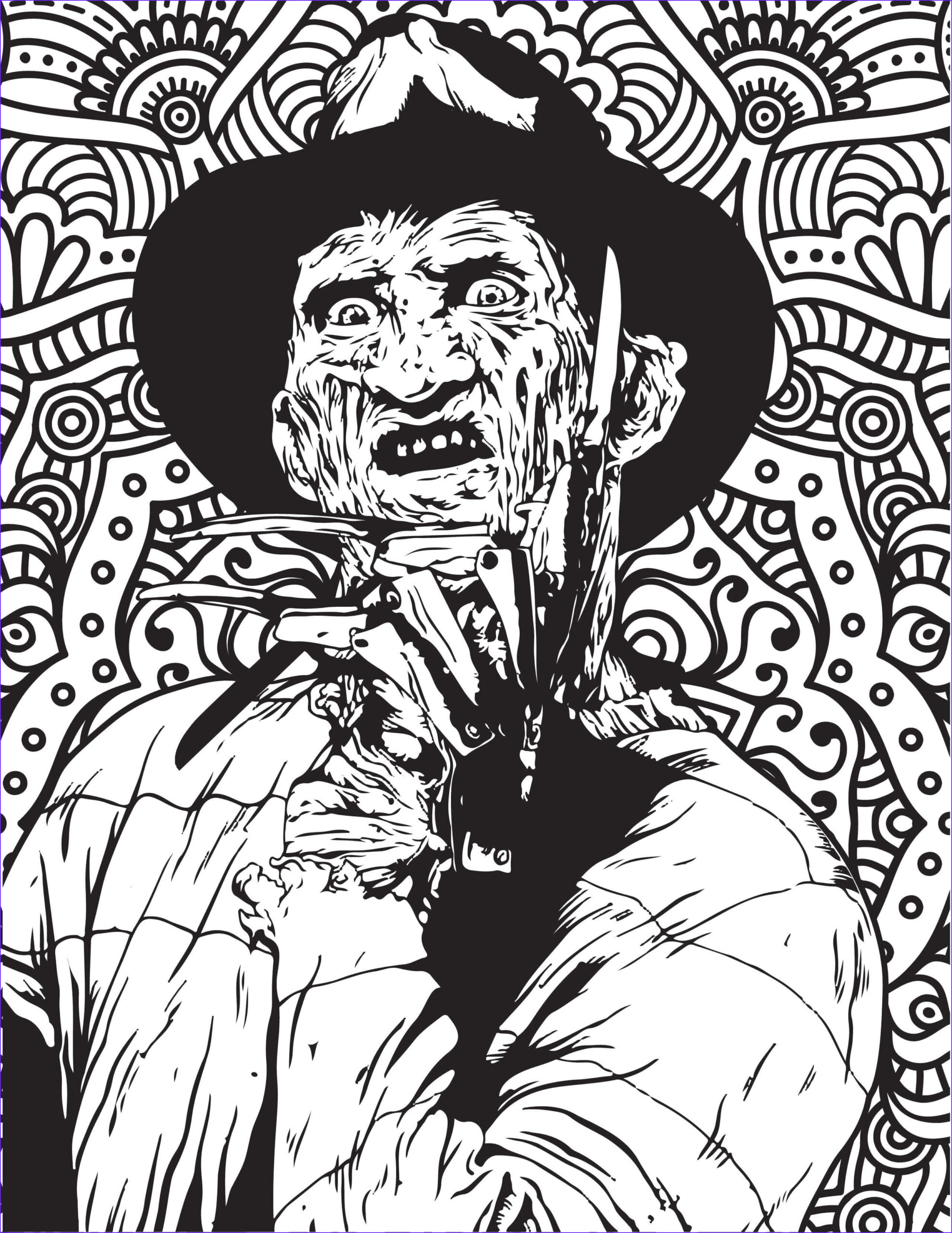 horror movies coloring pages