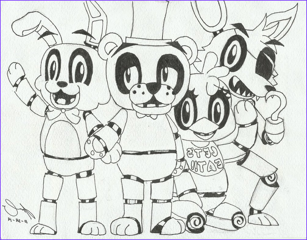 five nights at fred s coloring pages