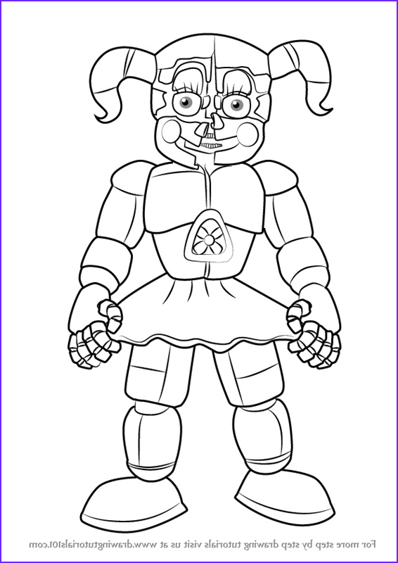 Freddy Coloring Elegant Photos Fnaf Circus Baby Free Coloring Pages
