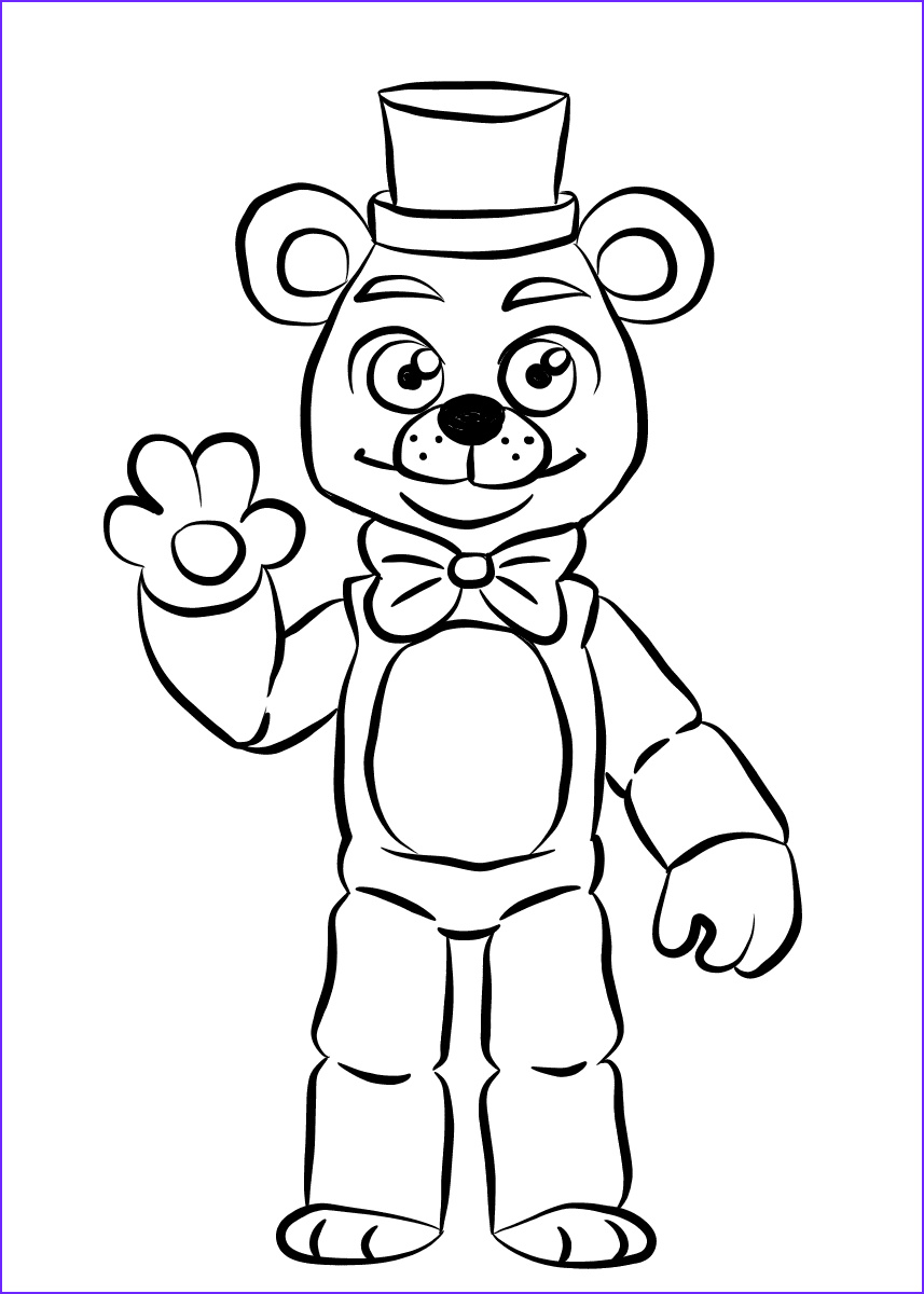 Freddy Coloring Inspirational Images Free Printable Five Nights at Freddy S Fnaf Coloring Pages