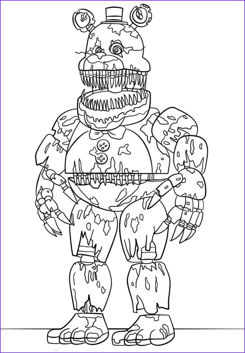 Freddy Coloring Inspirational Photography Free Printable Five Nights at Freddy S Fnaf Coloring Pages