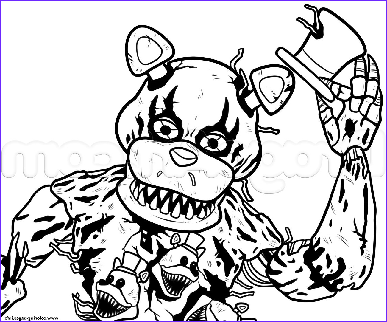 Freddy Coloring Luxury Photography Draw Nightmare Freddy Fazbear Fnaf Coloring Pages Printable