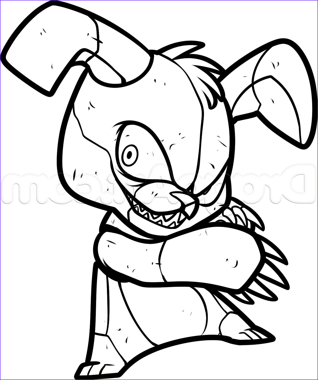 how to draw bonnie from five nights at freddys drawing sheet