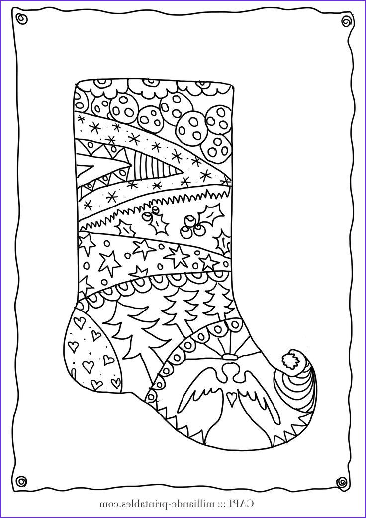 Free Adult Christmas Coloring Pages Awesome Gallery Christmas Stocking to Color Free Printable Christmas