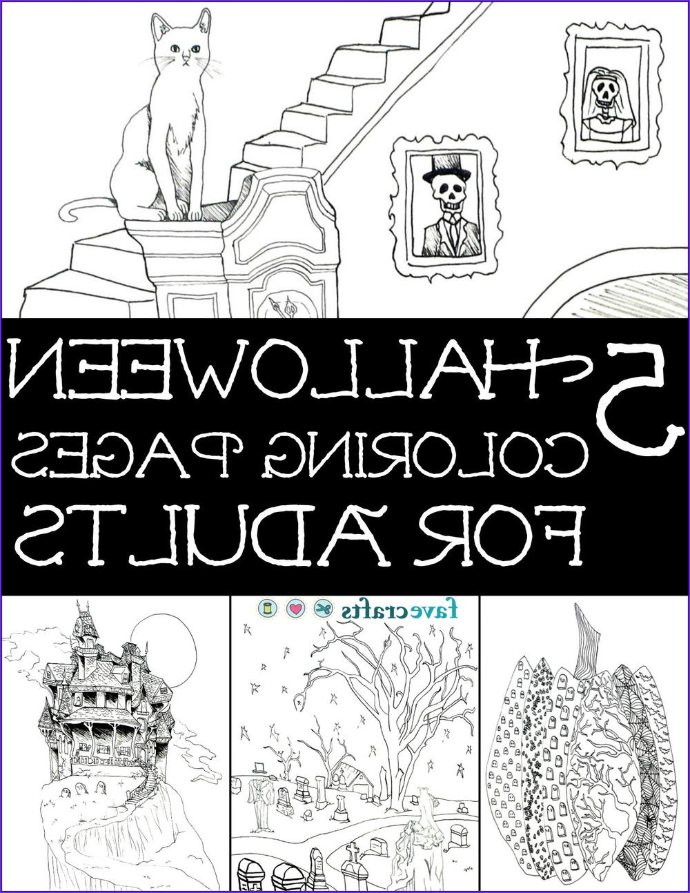Halloween Coloring Pages for Adults free eBook