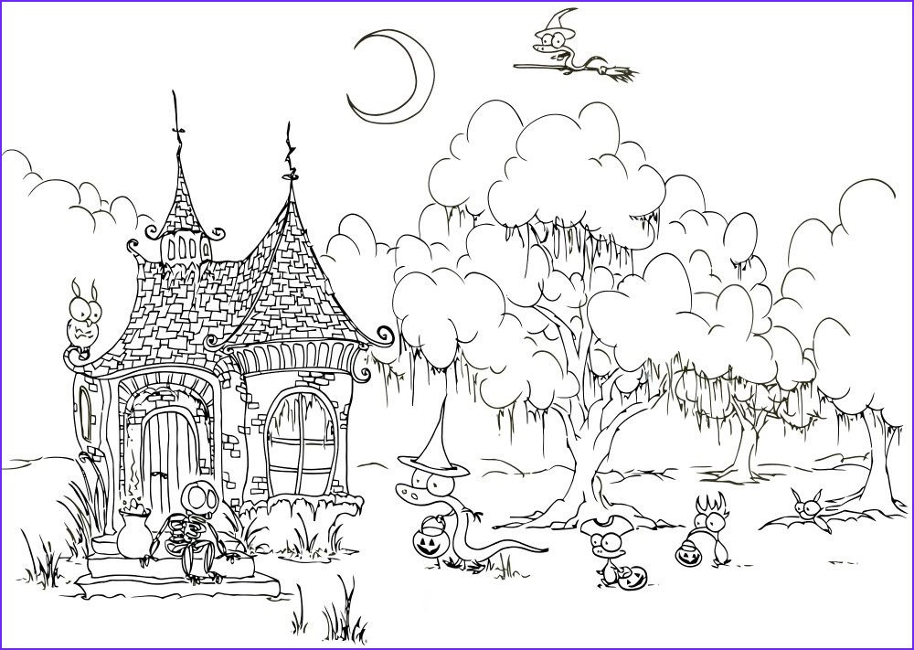 halloween coloring pages for adults