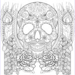 Free Adult Halloween Coloring Pages Cool Gallery Skull And Candles Halloween Adult Coloring Pages