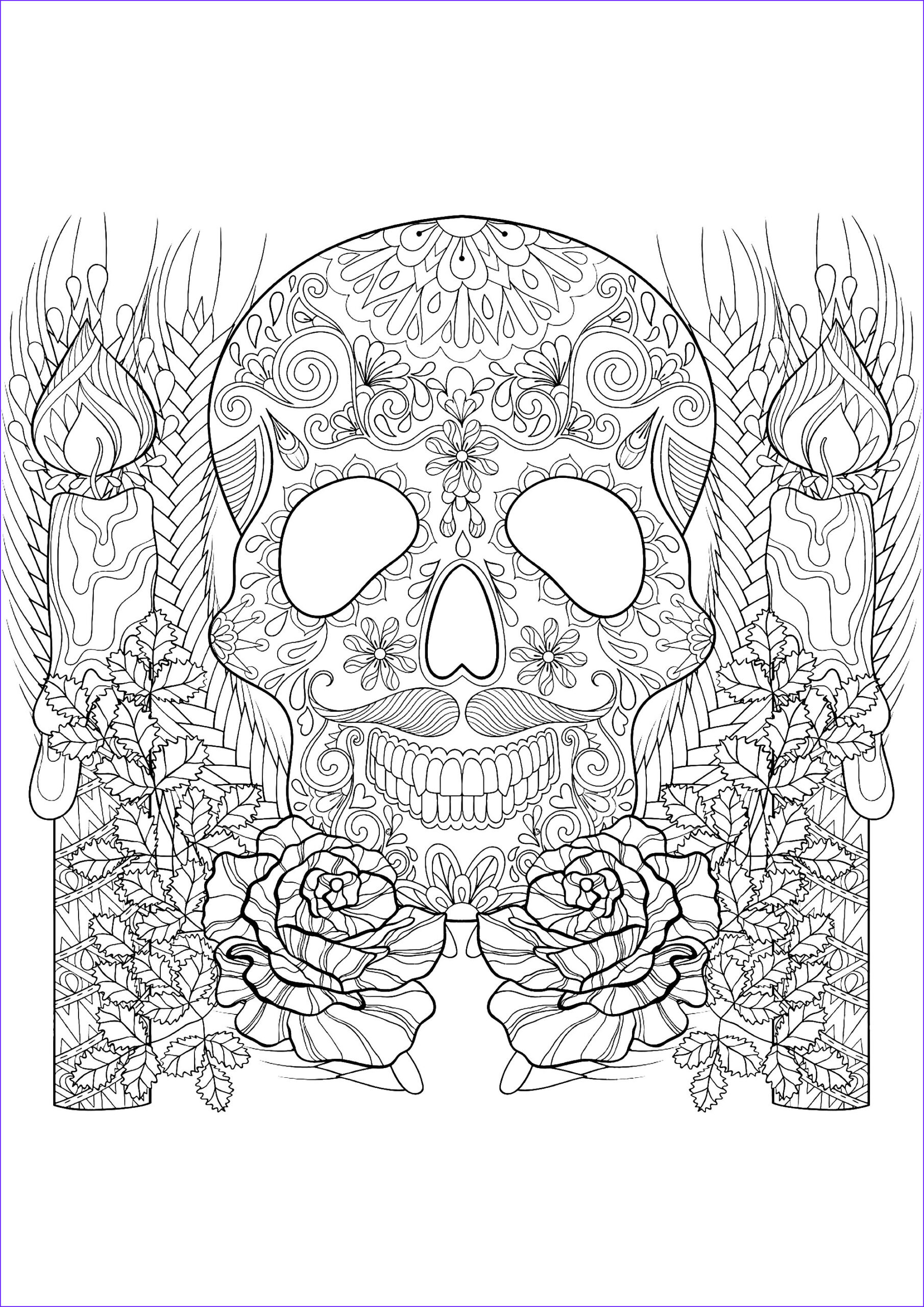 image=events halloween coloring page skull and candles for halloween 1