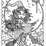 Free Adult Halloween Coloring Pages Cool Photos Cute Witch Halloween Coloring Page Fun Coloring Instant