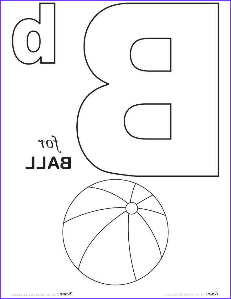 Free Alphabet Coloring Pages New Photography Printables Alphabet B Coloring Sheets