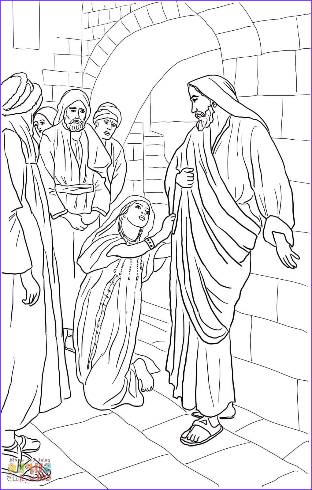 Free Bible Story Coloring Pages Inspirational Stock Jesus Heals Canaanite Woman S Daughter