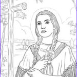Free Catholic Coloring Pages Printables Beautiful Collection St Kateri Tekakwitha Coloring Page From Saints Category