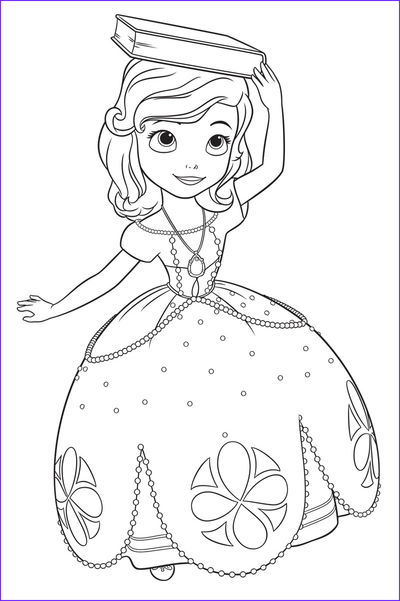 sofia first coloring pages