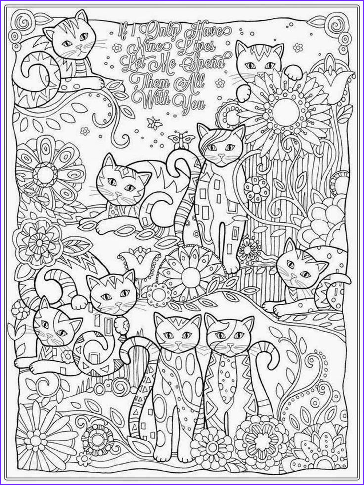Free Coloring Book Pages for Adults Awesome Images Adult Coloring Cats Bestofcoloring
