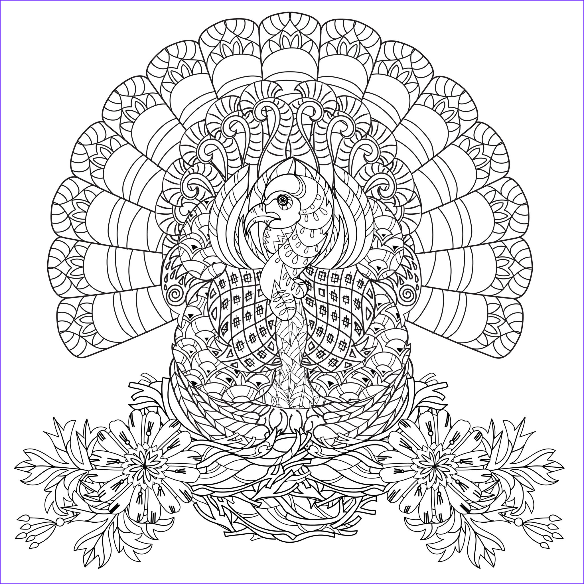 thanksgiving coloring pages adults