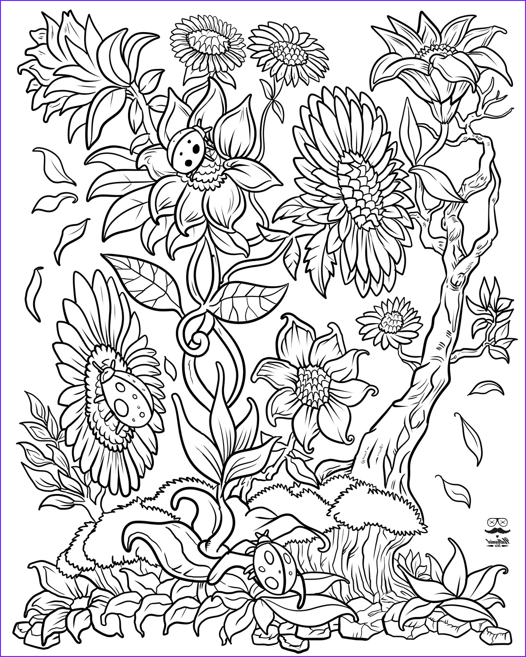 Free Coloring Book Pages for Adults New Photography Floral Fantasy Digital Version Adult Coloring Book